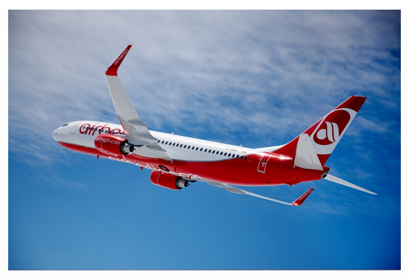 Air-Berlin-Flieger mit Winglets