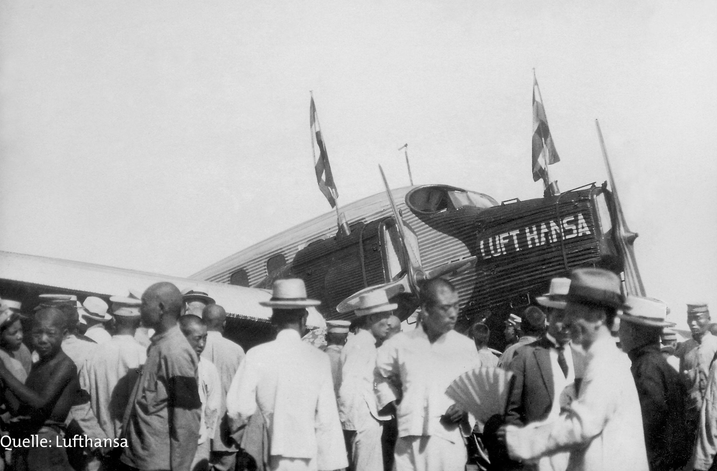 Die Lufthansa fliegt mit nach Peking.