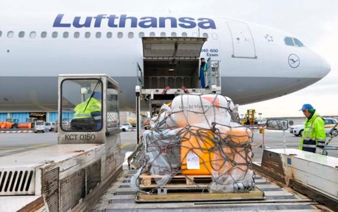 Humanitäre Hilfe Lufthansa Cargo