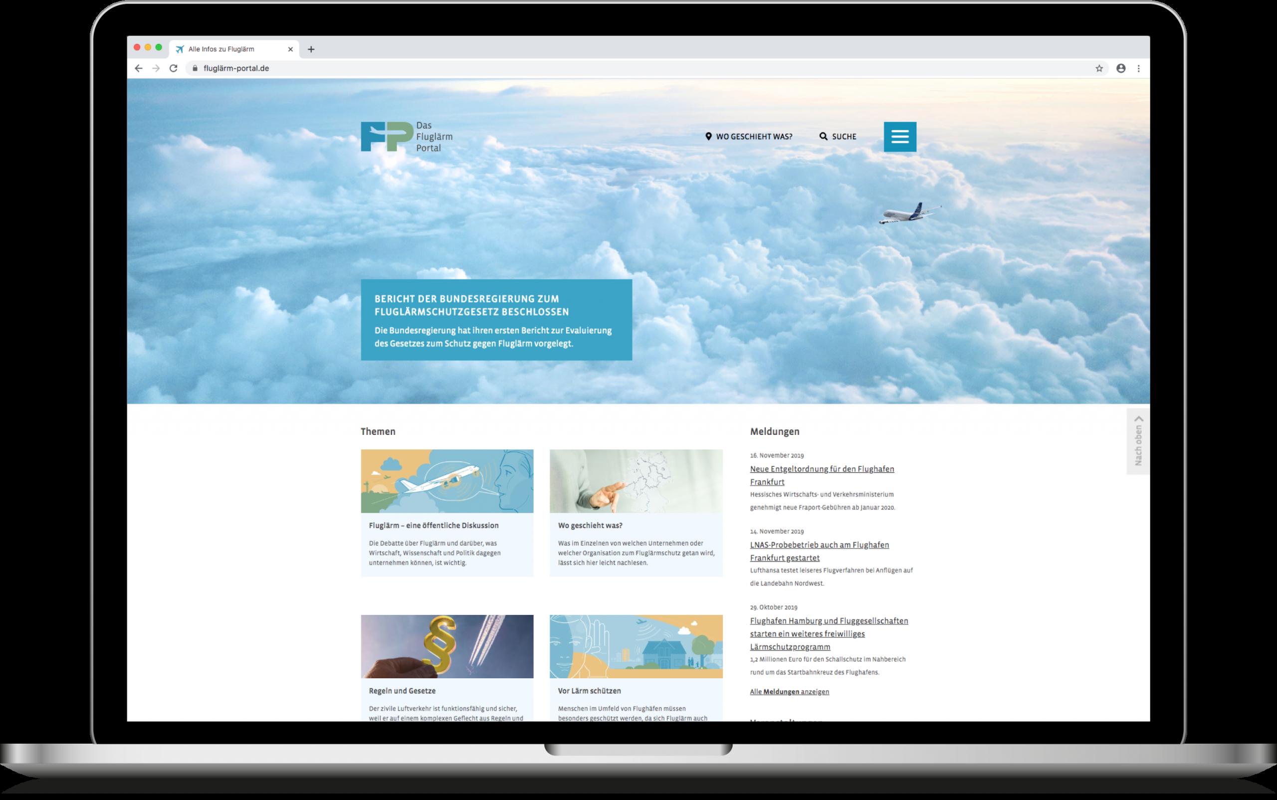 Fluglärm: Das Flugärm-Portal der Luftfahrt